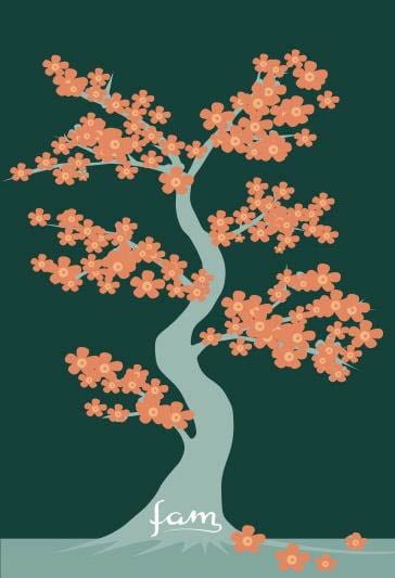 flowering tree vector art